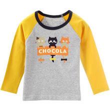 纤丝鸟 儿童长袖T恤 三只小猫  9.9元