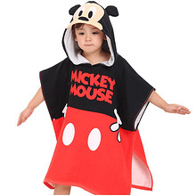 多款可选 # 迪士尼 漫威儿童连带帽浴巾  59.9元包邮(79.9-20券)