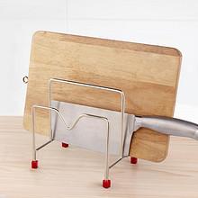 简约北欧风# 沃德百惠 不锈钢厨房收纳免打孔置物架 7.9元包邮