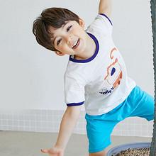 舒适百搭# 优贝宜 夏季纯棉儿童圆领卡通短袖T恤 16.8元
