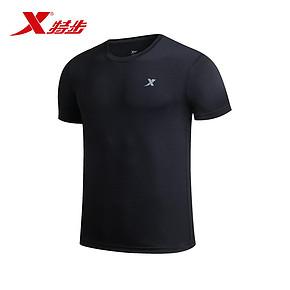 特步 男士短袖圆领t恤 39元包邮(59-20券)