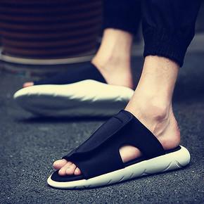 夏日必备# 逸川 一字拖潮牌男士室外拖鞋 19元包邮(59-40券)