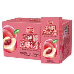 盼盼 水蜜桃汁250ml*24盒 整箱 18.9元