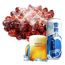 洪小湖 熟食小龙虾 750g+金龙泉 雪豹啤酒500ml*9罐  61.8元包邮(71.8-10券)