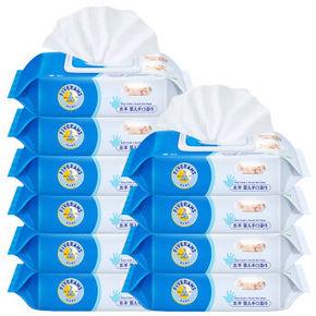 五羊 婴儿手口湿巾80片*10包  49.9元