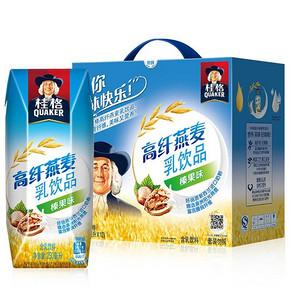 部分地区有货# 桂格 高纤燕麦乳250ml*12包 9.9元
