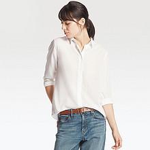 商务休闲风# UNIQLO  优衣库 女装长袖花式衬衫 79元