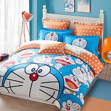 可爱童趣# 罗莱 哆啦A梦卡通儿童全棉四件套 1.8m 299元(399-100券)
