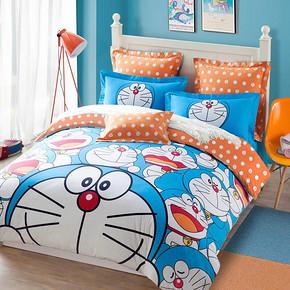 罗莱 哆啦A梦卡通儿童全棉四件套 1.8m 299元(399-100券)