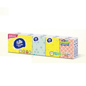 维达 手帕纸 海绵宝宝3层手帕纸 10包*2  6元(12,2件5折)