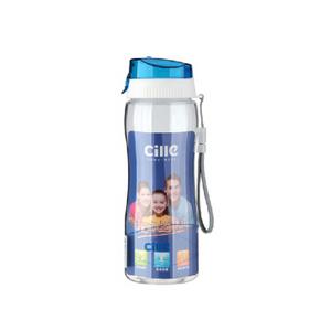希乐运动茶杯 塑料 太空杯 蓝色 420ml 9.9元