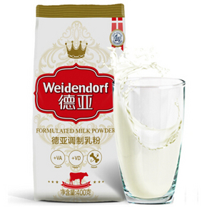 丹麦进口 德亚(Weidendorf)成人奶粉 400g 19.9元
