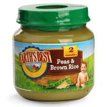 凑单好价# 爱思贝 婴儿豌豆糙米泥2段113g 9.9元
