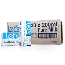 乐仕 超高温灭菌全脂牛奶200ml*30盒 49.9元