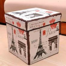 豆萁 时尚卡通收纳凳 30x30x30cm 19.9元包邮(29.9-10)