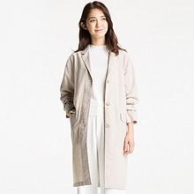 反季大促# UNIQLO  优衣库 女装麻棉大衣 99元