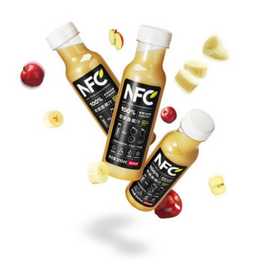 夏日果汁# 农夫山泉 100%NFC苹果香蕉汁300ml*24瓶  156元包邮