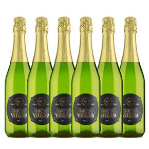 贵族典雅# 韦德 西班牙进口起泡葡萄酒750ml*6   99元