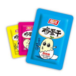 吃货拼单# 祖名 休闲零食即食烧烤味鸡蛋干500g/袋*9 99元包邮(9件99元)