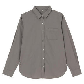MUJI  无印良品 女式棉水洗平纹衬衫 100元