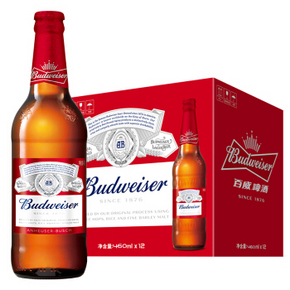 Budweiser 百威 啤酒 460ml*12瓶 59元