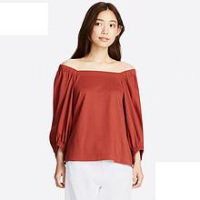 日系女装# 优衣库 花式7分袖T恤 89元包邮(79+10)