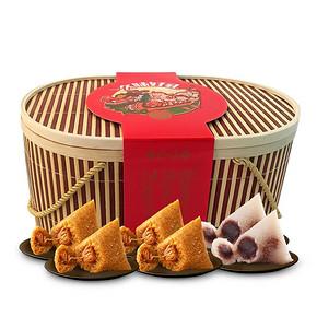 久知味 嘉兴端午粽子竹篮装 8荤6素3口味 1710g*2件 69元包邮(269-200券)