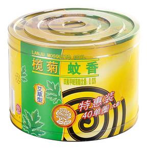 榄菊 大盘艾草型黑蚊香 40单盘 折8.5元(16.9,买2免1)