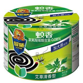 草本驱蚊# 超威 植物艾草清香特大盘40单盘  9.9元