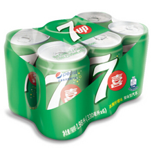 乐在七喜# 七喜 柠檬味碳酸饮料330ml*6听 9.9元