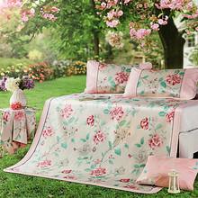 博洋家纺  夏季双人加大可折叠凉席三件套 1.8m 119元包邮(139-20券)