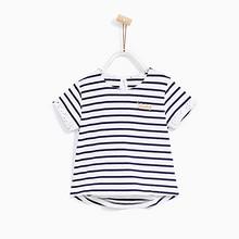 ZARA 童装 基本款条纹 圆领短袖T恤  29元包邮