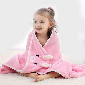 婴儿超柔吸水专用浴巾带帽50*70cm 9.9元(29.9-20券)