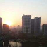 晨起的太阳